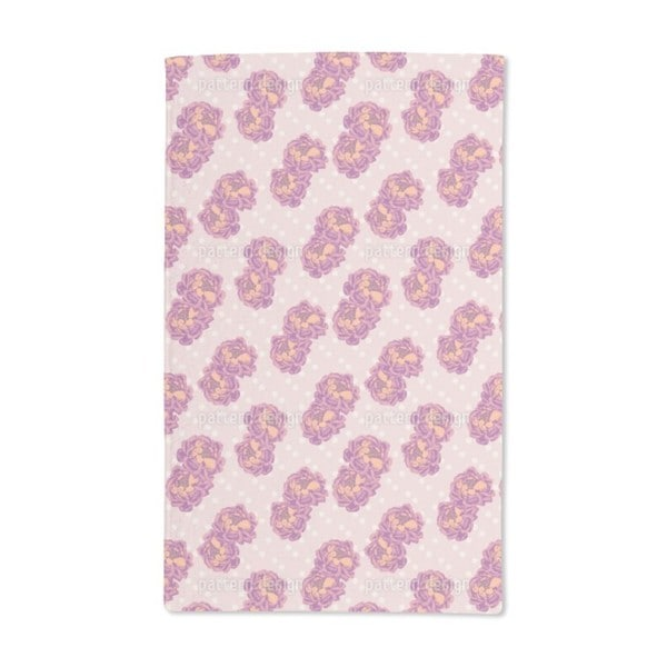 Pair of Roses Hand Towel (Set of 2)