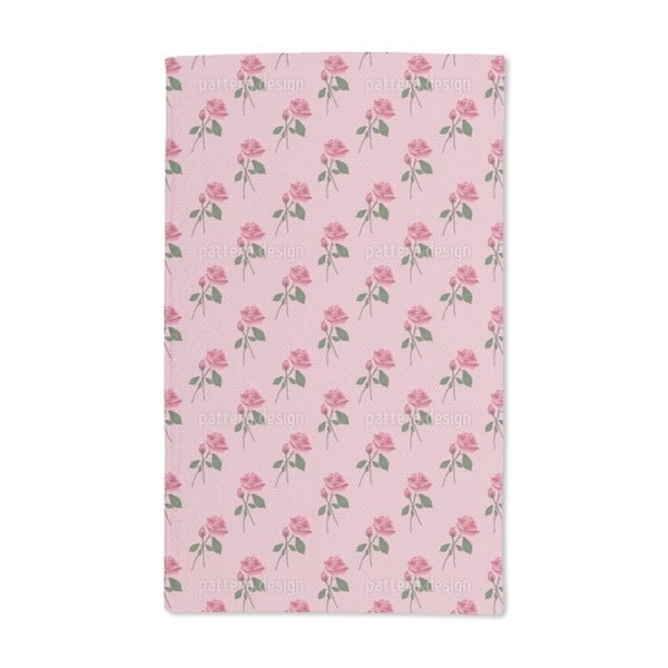 Pink Roses Hand Towel (Set of 2)
