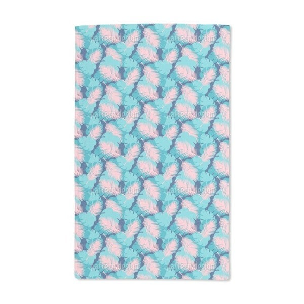 Palm and Monstera Leaves Hand Towel (Set of 2)