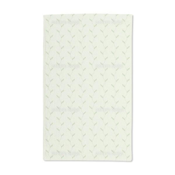Leaf Plant Hand Towel (Set of 2)