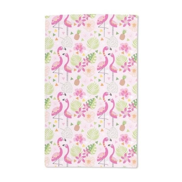 Tropical Flamingo Paradise Hand Towel (Set of 2)