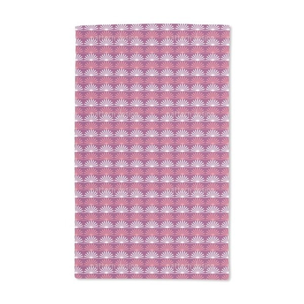 Floral Sunrise on Stripes Hand Towel (Set of 2)