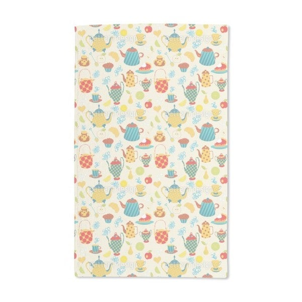 Tea Time in the Park Hand Towel (Set of 2)