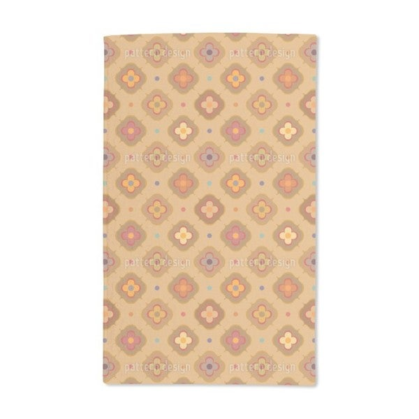 Vintage Abstract Flowers Hand Towel (Set of 2)