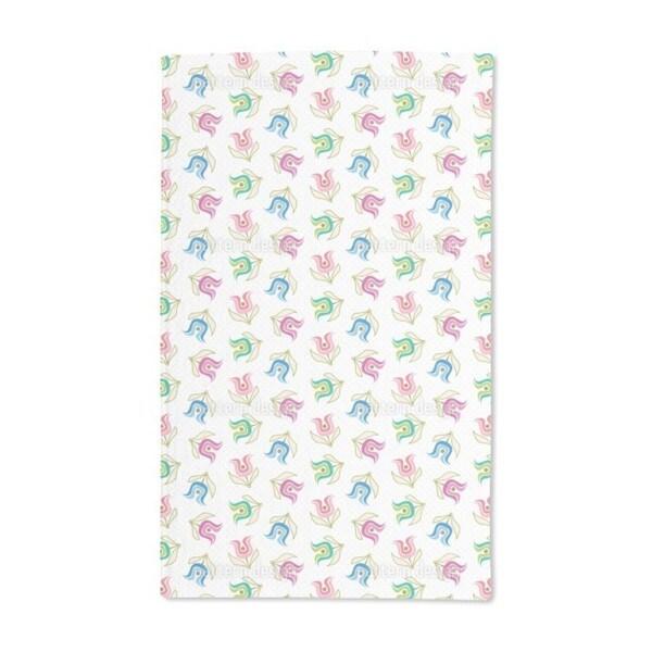 Sweet Retro Tulips Hand Towel (Set of 2)