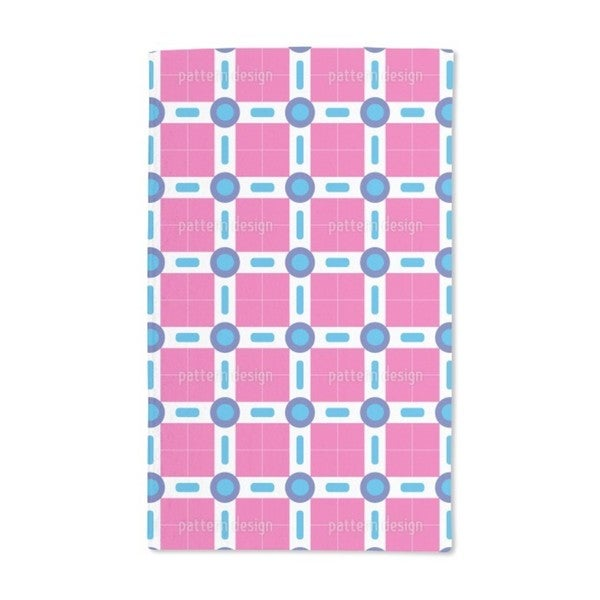 Circles and Squares in Miami Hand Towel (Set of 2)