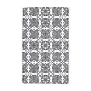 Black White Hand Towel (Set of 2)