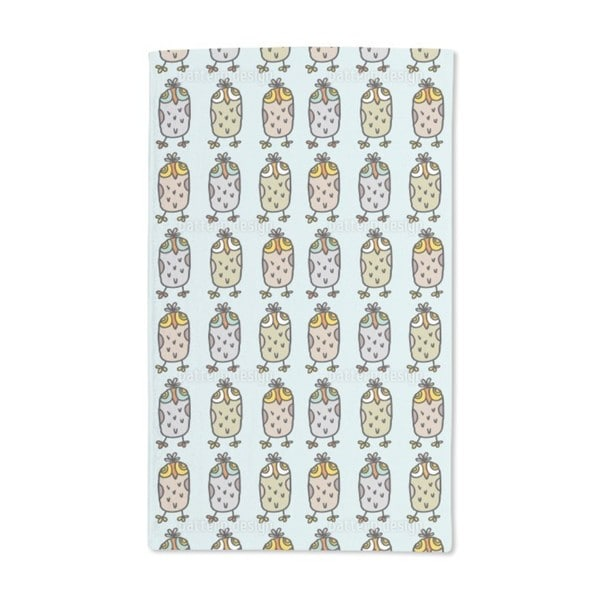 Owls in a Row Hand Towel (Set of 2)