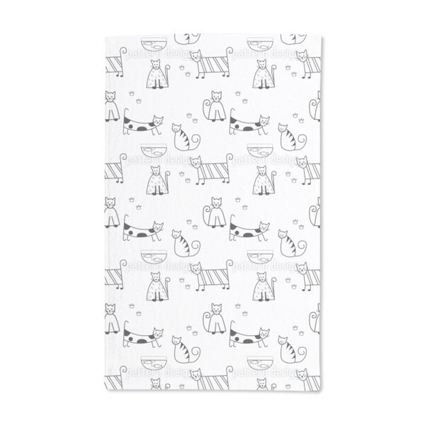 Funny Cats Hand Towel (Set of 2)