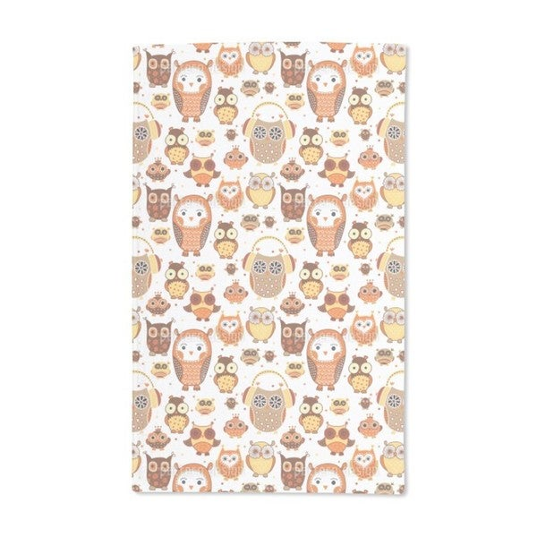 Autumn Owls Hand Towel (Set of 2)