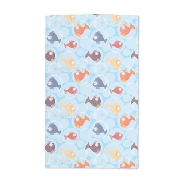 Fish Bubbles Hand Towel (Set of 2)