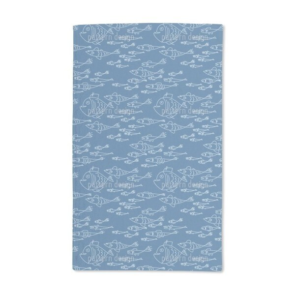 Sea World Mono Hand Towel (Set of 2)