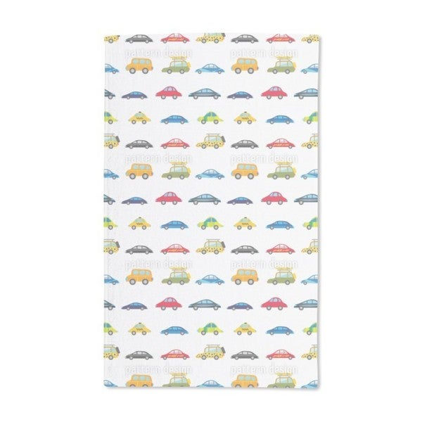Funny Cars Hand Towel (Set of 2)