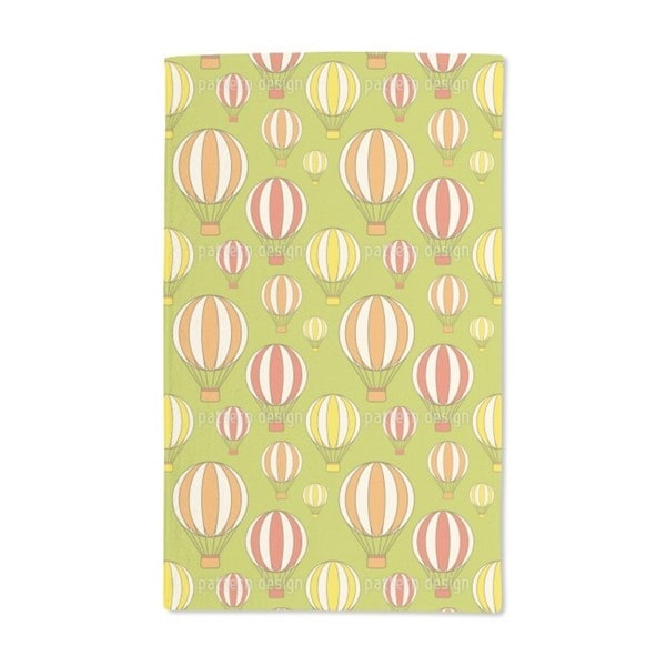 Ballooning in the Green Hand Towel (Set of 2)