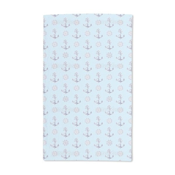 Anchors and Steering Wheels Hand Towel (Set of 2)