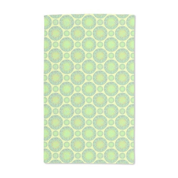 Green Marbles Hand Towel (Set of 2)