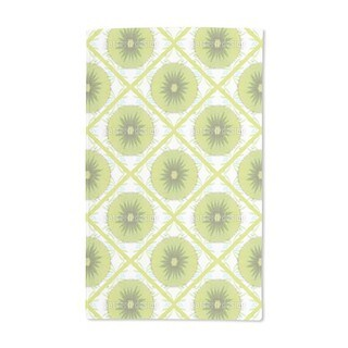 Floral Kiwi Check Hand Towel (Set of 2)