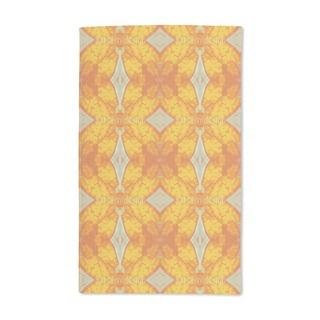 Checks in Gold Rush Hand Towel (Set of 2)
