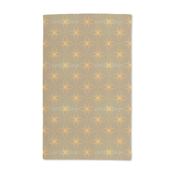 Flowers in Gold Hand Towel (Set of 2)