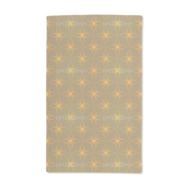 Flowers In Gold Hand Towel Set Of 2 Free Shipping Today 12623501