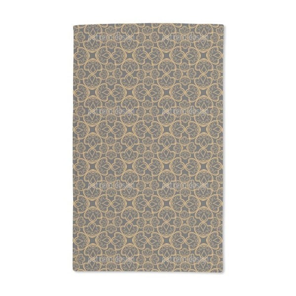 Floral Gold Jewelry Hand Towel (Set of 2)