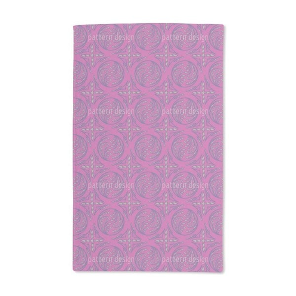 Pintoretto Pink Hand Towel (Set of 2)