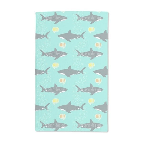 Hello Shark Hand Towel (Set of 2)