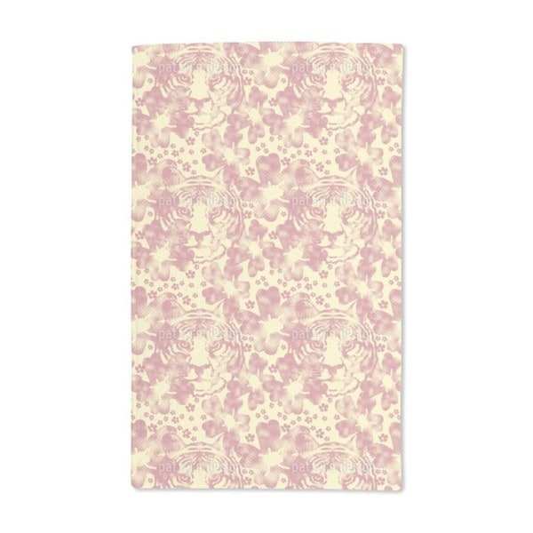 The Tiger in the Flower Garden Hand Towel (Set of 2)