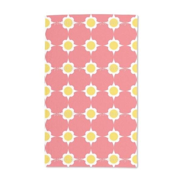 Flower Dots Hand Towel (Set of 2)