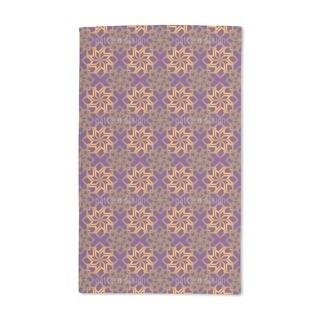Golden Stars on Violet Hand Towel (Set of 2)