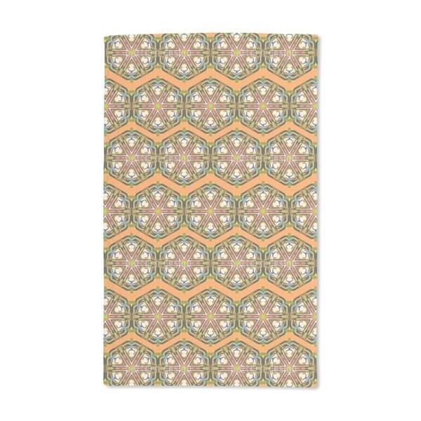 Kaleidoscope Zig Zag Brown Hand Towel (Set of 2)
