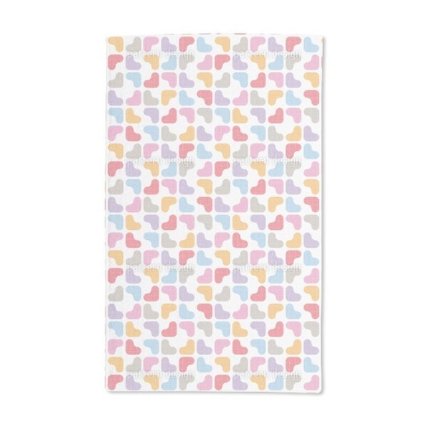 Soft Hearts Hand Towel (Set of 2)