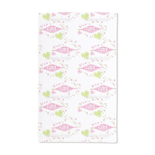 It Is a Girl Hand Towel (Set of 2)