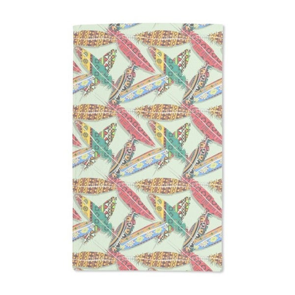 Feathers in Spring Hand Towel (Set of 2)