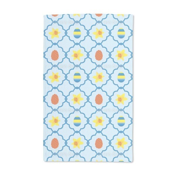 Easter Daffodils Blue Hand Towel (Set of 2)