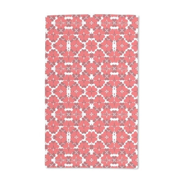 Shamrock in Red Hand Towel (Set of 2)