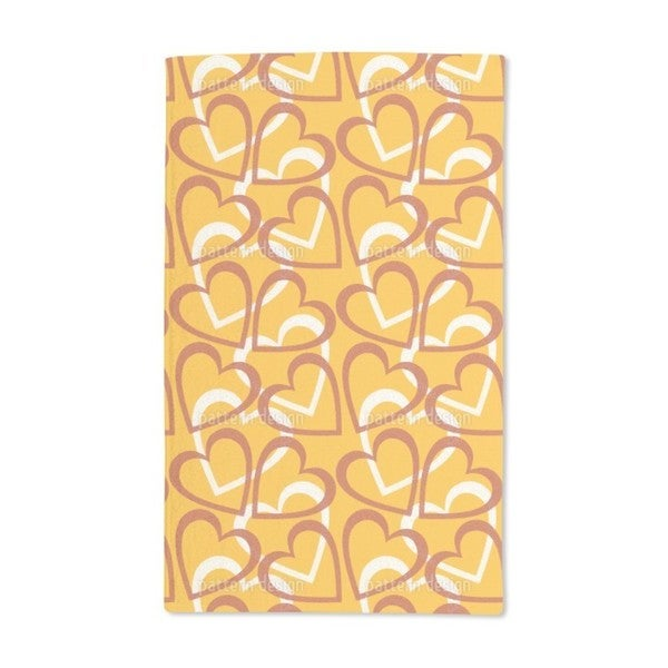Love Love Love Allover Hand Towel (Set of 2)