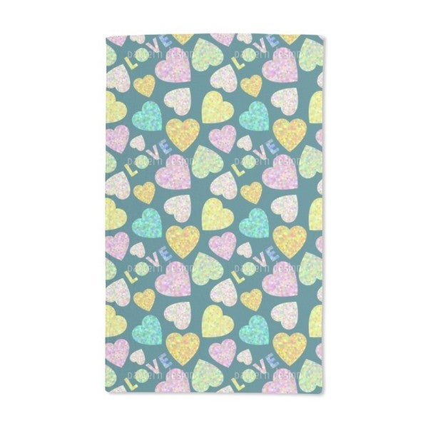 Heart and Love Hand Towel (Set of 2)