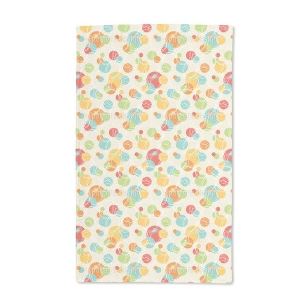 Colorful Circles Hand Towel (Set of 2)
