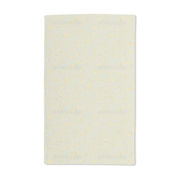 Gold Flora Hand Towel (Set of 2)