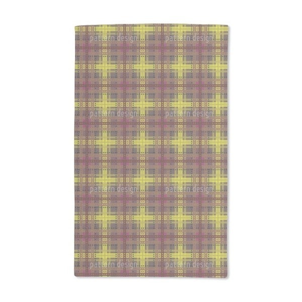 Brown Tartan Hand Towel (Set of 2)