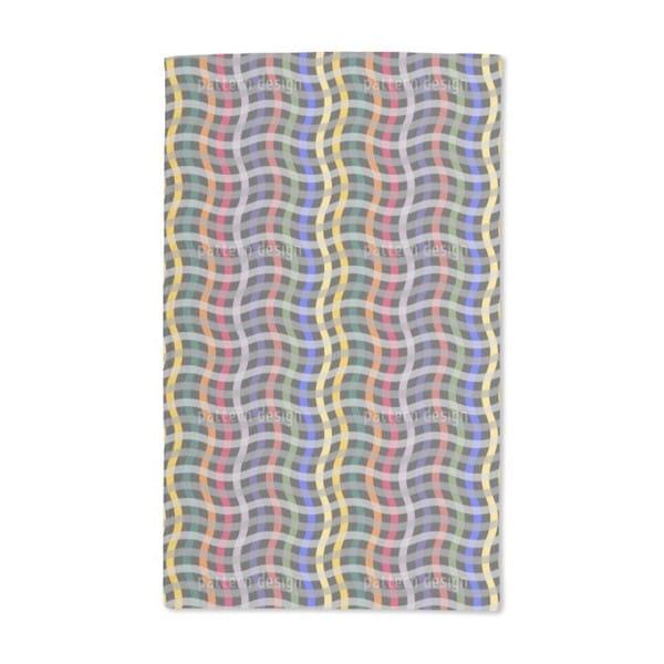 Big Waved Grid Hand Towel (Set of 2)
