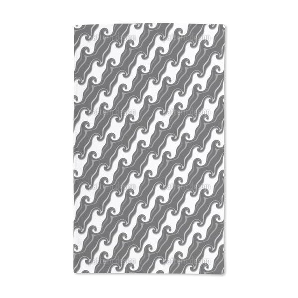 Chocolate Icing in Diagonal Waves Hand Towel (Set of 2)