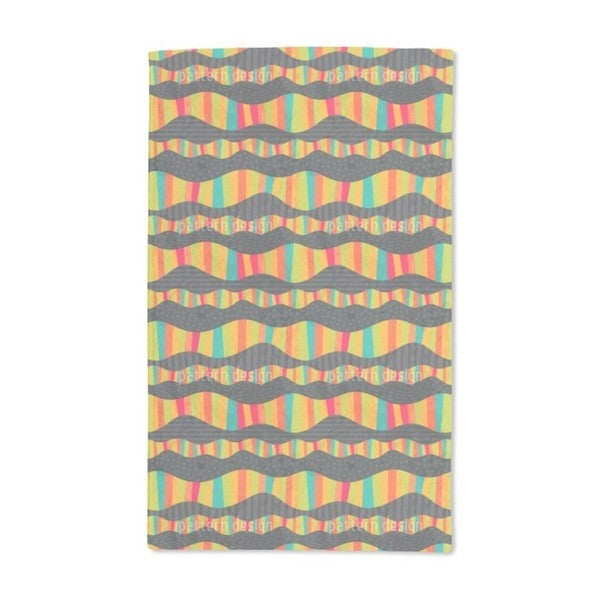 Funny Waves Hand Towel (Set of 2)