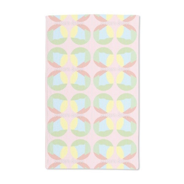 Striped Circles in Pastel Hand Towel (Set of 2)