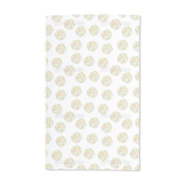 Retro Flower Circles Hand Towel (Set of 2)