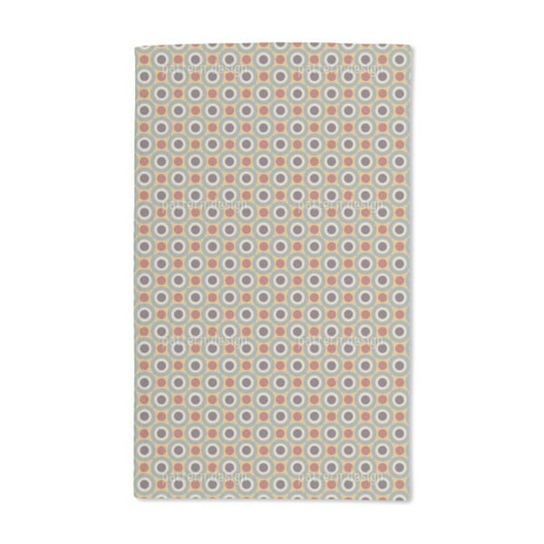 Dot and Circle in the Retro Room Hand Towel (Set of 2)