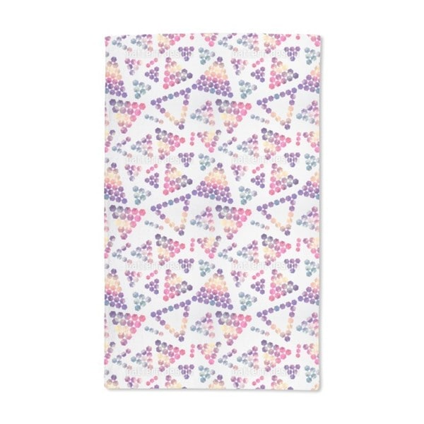 Crystals in Triangular Shape Hand Towel (Set of 2)