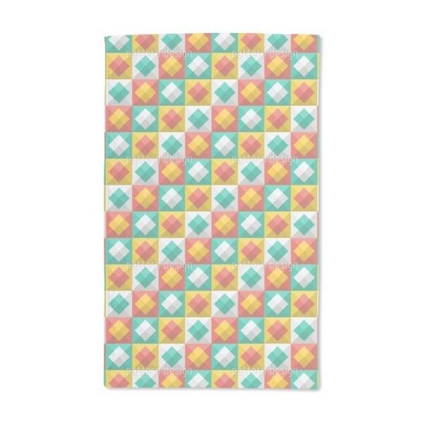 Happy Summer Plaid Hand Towel (Set of 2)