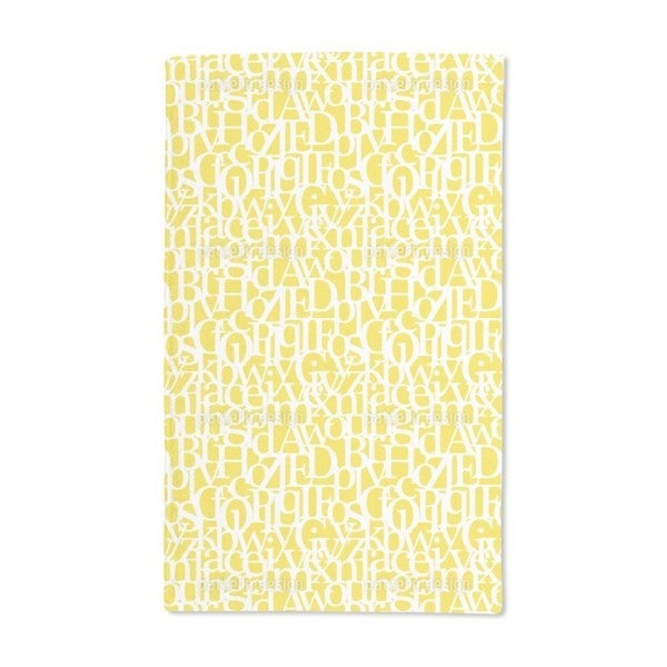 Letter Code Hand Towel (Set of 2)